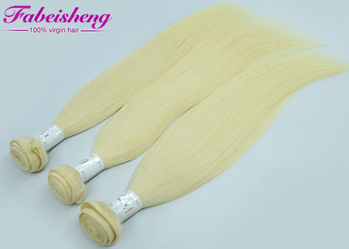 Straight Brazilian Virgin Colored Hair Extensions , Honey Blonde Unprocessed Human Hair Weave